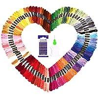 SOLEDI Hilo de Punto de Cruz 100 Tipos de Colores Bordados Hilo de Bordar de Algodón 100%(100 Colores )