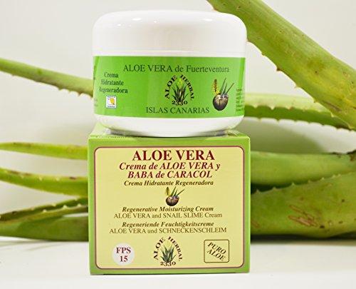 Foto de Aloe Herbal 2330 Crema hidratante regeneradora de Aloe Vera y baba de caracol 200ml