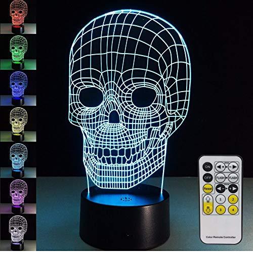 Lifme Halloween Ull Lampe 3D Nachtlicht Kinder Spielzeug Led Touch Tischlampe 7 Farben Blinkende Led Licht Für Zuhause