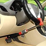 XJ blocca Pedale Volante,Dispositivo antifurto per Auto, Freno a Pedale Volante/bloccasterzo, Barra di bloccaggio, Blocco della Frizione sul Volante, Dispositivo di Blocco per Volante