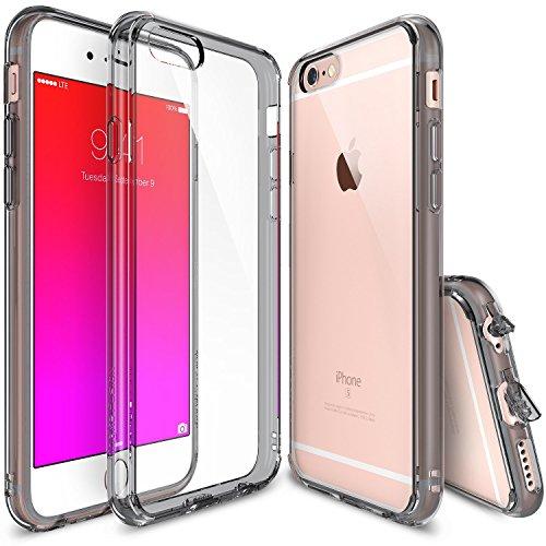 Ringke iPhone 6S Plus Hülle, [Fusion] kristallklarer PC TPU Dämpfer (Fall geschützt/Schock Absorbtions-Technologie) für das Apple iPhone 6S Plus / 6 Plus - Rauchschwarz