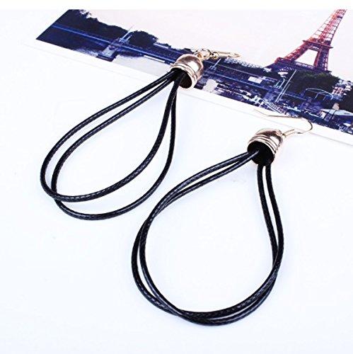 ZPXLGW Mode Tempérament Wild Multi-couches Collier Tassel Boucles D'oreilles Suit Black
