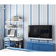 YUELA 3D Kleber Vliestapeten Tapete Holz Wand Weißem Mediterranen Wohnzimmer  TV Kulisse Tapeten 0.53
