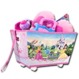 Spielzeugkiste - Spielzeugbox mit Rollen - Motivauswahl (Princess)