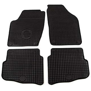 Festnight- 4-TLG Autofu?matten Set für VW Polo, Auto Fu?matten Automatte Autoteppich aus Gummi Schwarz
