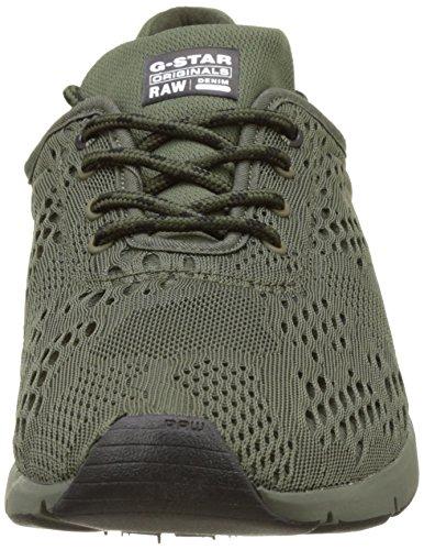 G-STAR RAW Grount Mesh, Sneakers Basses Homme Vert (Combat 723)