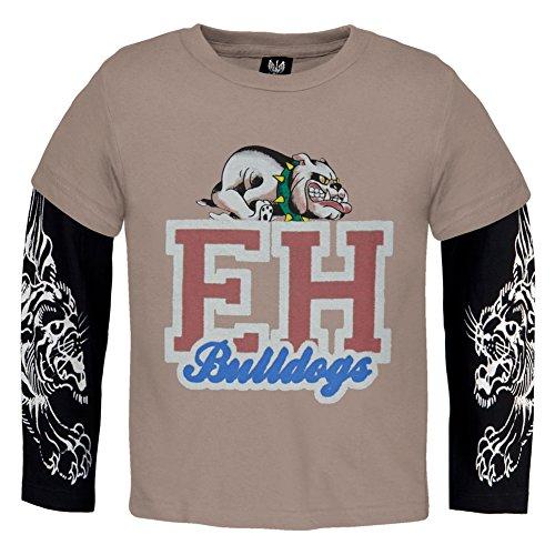 Ed Hardy  Jungen T-Shirt Braun Braun