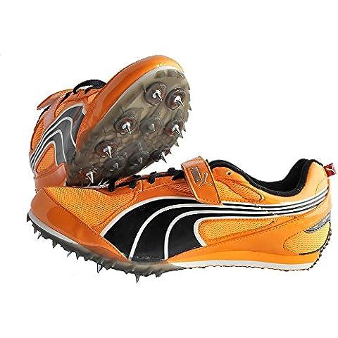 Puma Complete TFX Jump 2Pro Weitsprung salto con l' asta/18456901colore: fluo Arancione/Black/White, Fluo orange-schwarz-weiß, 11 UK
