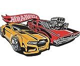 alles-meine.de GmbH 3-D Effekt _ Wandtattoo / Wandsticker / Möbelsticker -  Hot Wheels Auto  - Rot & Gelb - Moosgummi / Kind Kinder Junge Hotwheels - Autos - Trucks - Autosticker