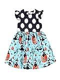 BHYDRY Halloween Toddler Kids Baby Girls Pumpkin Cartoon Princess Dress Outfits Clothes Cotton Blend Costume