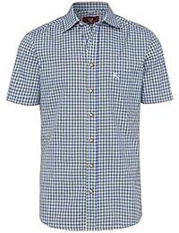 OS Trachten Moser Trachten Trachtenhemd Kurzarm Grün Blau Karo 112338,  Material Baumwolle 8278113cd4
