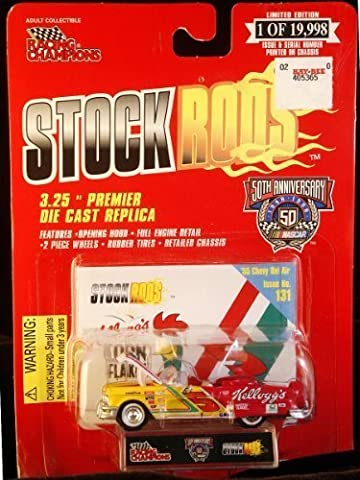 Racing Champions - Stock Rods Series - 3.25 inch Replica - NASCAR 50th Anniversary Limited Edition - Terry Labonte - 1955 Chevy Bel Air - Kellogg's #5 - Issue #131 by Racing Champions