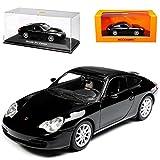 alles-meine.de GmbH Porsche 911 996 Carrera Coupe Schwarz 1997-2006 1/43 Minichamps Maxichamps Modell Auto mit individiuellem Wunschkennzeichen