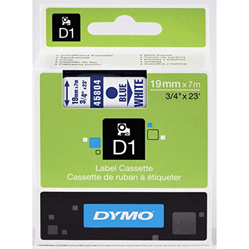 Preisvergleich Produktbild D1 Standard Tape Cartridge for Dymo Label Makers, 3/4in x 23ft, Blue on White