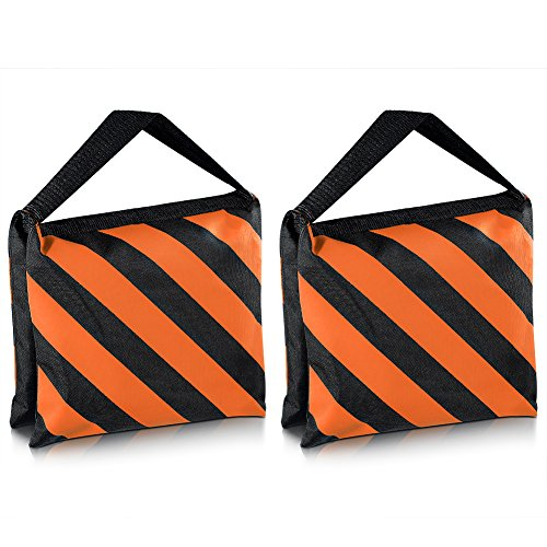 Neewer 2-er Set, schwarz/Orange, Sandsack Fotostudio-Stage-Sandsack, Satteltasche, für Stative, Lampenstative Boom Arm