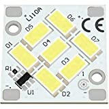 Unbekannt LED-Board 24V 20X20MM 3000K 7 LEDs