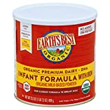 Earth's Best Organic Infant Formula with Iron, DHA & ARA, 23.2 Ounce Canister