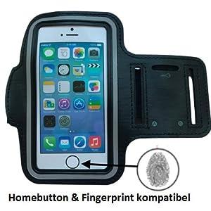 CoverKingz Armtasche für Apple iPhone 7 – iPhone 8 Sportarmband mit Schlüsselfach, Handyhülle für Joggen, Handy Armband Schwarz