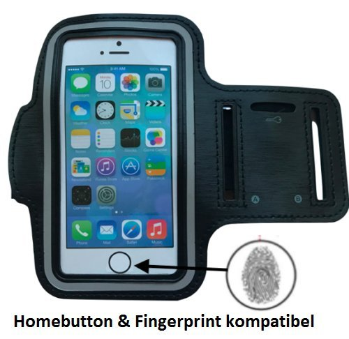 CoverKingz Apple iPhone 7 - iPhone 8 Sportarmband Fitness Hülle Jogging-Armband Lauf Homebutton / Fingerprint kompatibel Running-Case schwarz