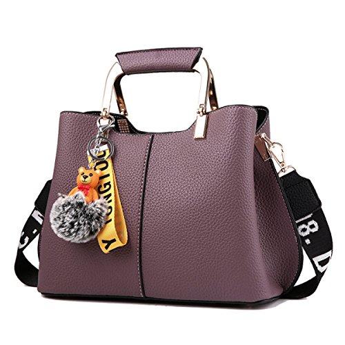 Mode Frauen Handtasche Schultertasche PU-Leder Umhängetasche Handtasche Messenger Bag Erhältlich In 6 Farben Purple