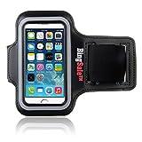 iPhone SE hülle, Bingsale Apple iPhone SE 5S 5C 5 Original Neoprene Deluxe Dual Fit Easy Fit Freizeit und Sport Armband Armtasche in Schwarz