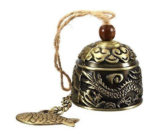 Fengshui Campana de viento chino tradicional vintage dragón Fengshui Bell buena suerte Bless hogar jardín colgante Windchime