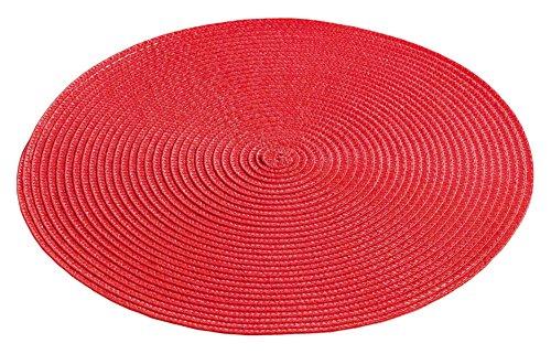 décor line ZEBULON Set de table Plastique Rouge 35 x 35 cm