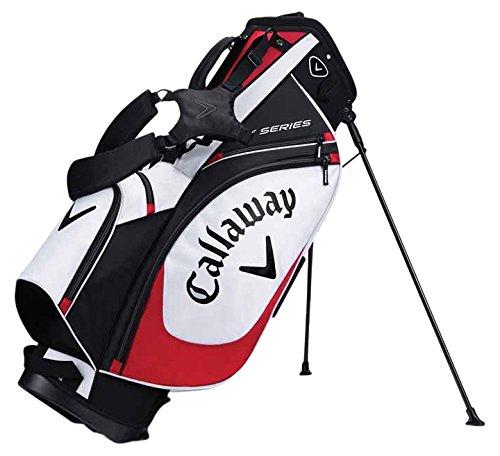 Calaway X Series Bolsa Trípode de Golf, Unisex Adulto, Blanco / Negro / Rojo, Talla Única