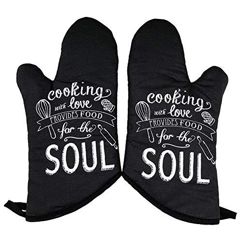 Pangyan990 Topflappenhandschuhe Extrem Hitzebeständige Grillhandschuhe Insulated Kitchen Oven Mitts On-Slip Zum Backen Braten BBQ Grillen Kochen -