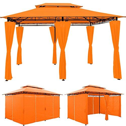 Luxus Pavillon TOPAS Festzelt 4x3 Partyzelt Garten Pavillion Gartenzelt Gartenpavillon Orange