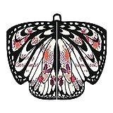 Alni Damen 168X136CM Weiche Gewebe Pfau Schmetterlings Flügel Schal feenhafte Damen Nymphe Pixie Karneval Cosplay Weihnachten Cosplay Kostüm Zusatz