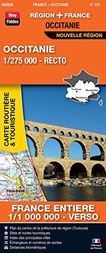 Occitanie, 1/275 000, recto : France entière, 1/1 000 000, recto