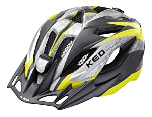 KED Fahrradhelm Street Jr. II, Yellow Black Matt, 49-55 cm, 15406170S