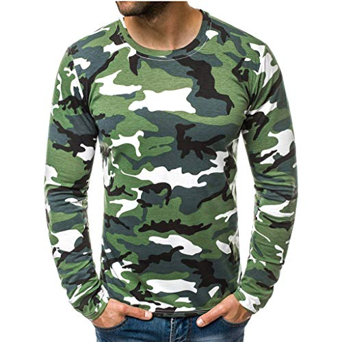 VBWER Herren Wunderschön O-Neck Sweatshirt Männer Hoodies Freizeit Sweatshirt Pullover Jacke Sweatjacke Kapuzenjacke Top Outwear Bluse 100% (Irische Gangster Kostüm)