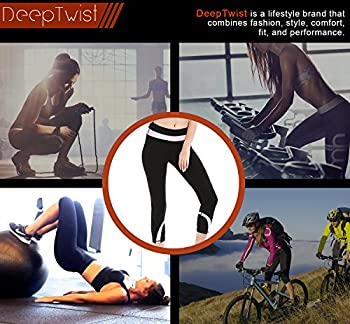 Deeptwist Womens Yoga Pants Running Capri Leggings Power Flex Workout Tights With Back Zipper Pocket Pink, Uk-dt4004-pink-12 5