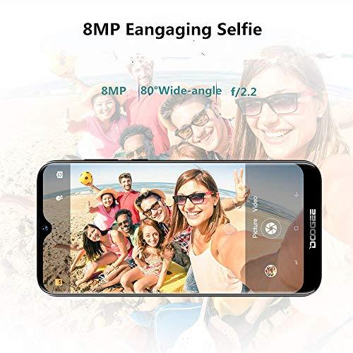 Télephone Portable débloqué Pas Cher 4G, DOOGEE Y8 2019 Smartphone Android 9,0 Mobile 6,1Pouces 19.9 HD+ Goutte d'eau, 3Go+16Go MT6739 Dual ... 5