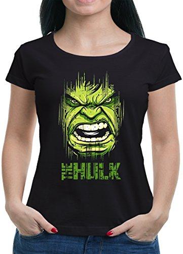 TLM Hulk Face T-Shirt Damen S (Frauen Punisher Kostüm)