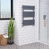 Heated Towel Rail Bathroom Radiator Designer Flat Panel - 800 x 600mm Grey Juva