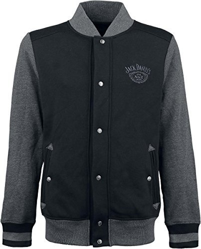 Preisvergleich Produktbild Jack Daniel's Old No. 7 College-Jacke schwarz / grau S