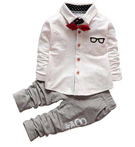 Kinder Gentlemen Kleidung Set Strampler- LOSORN ZPY Neugeborenes Baby Bow Outfit Hemd Hosen