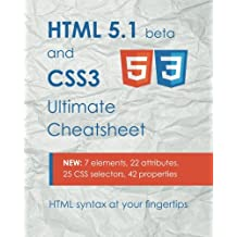 HTML 5.1 & CSS3 Ultimate Cheatsheet: HTML syntax at your fingertips
