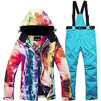 DULEE Damen Winter Wasserdichte Thermische Snowboard Anzug Ski Jacke Schneeanzug Ski Jumpsuit