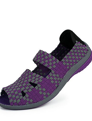 ZQ Scarpe Donna-Mocassini-Casual-Spuntate-Piatto-PU-Nero / Rosa / Viola , purple-us8.5 / eu39 / uk6.5 / cn40 , purple-us8.5 / eu39 / uk6.5 / cn40 purple-us6 / eu36 / uk4 / cn36