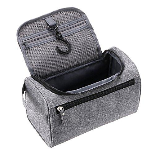 Sumnacon Nouveau Style Trousse/Sac de Toilette Carré Homme, cube avec Crochet Suspendu, Organisateur pour Gymnastique, Business et Vacance, Dimension -- 25*13*14cm (Gris)