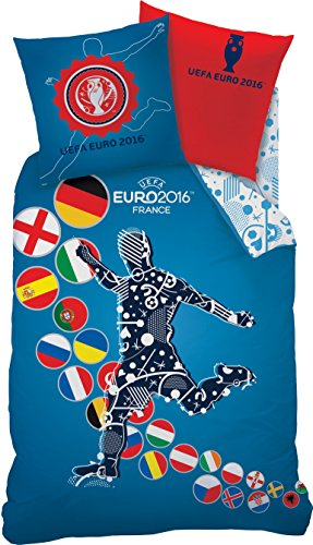 UEFA Euro 2016 EM France Bettwäsche Set 160x200 cm