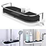 Semoic Badezimmer Regal Multifunktions Lagerregal Duschkopf Shampoo Halter Handtuchhalter Einstellbare Badezimmer Regale Einreihig