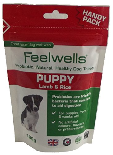 Feelwells Puppy Lamb & Rice Natural Probiotic Dog Treats 100g