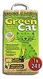 24 Liter GREENCAT CORNCAT NATURSTREU ÖKO-PLUS GREEN CAT`S KATZENSTREU - BEST STREU GREEN CAT - kostenloser Versand innerhalb Deutschlands (außer Inseln)