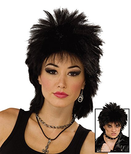 Black 80's Rock Idol Wig