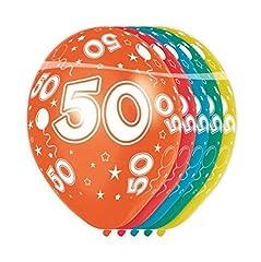 Idea Regalo - Folat – palloncini numero 50 – 5 pezzi, adatto all'elio, stampa allover